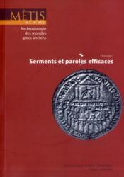 Revue Metis ; 10/2012 ; Serments Et Paroles Efficaces - Couverture - Format classique