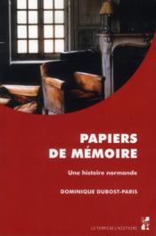 Papiers de memoire - Couverture - Format classique