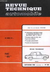 Revue Technique Automobile - N°269 - Couverture - Format classique