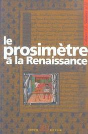 Cahier Saulnier T.22 ; Le Prosimètre A La Renaissance - Intérieur - Format classique