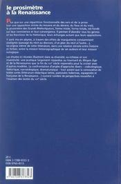 Cahier Saulnier T.22 ; Le Prosimètre A La Renaissance - 4ème de couverture - Format classique