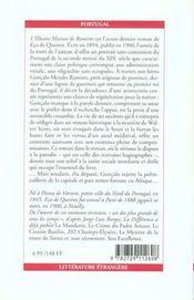 L'Illustre Maison De Ramires - 4ème de couverture - Format classique