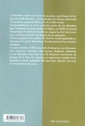 Pratique Du Droit Du Travail Ecoles De Commerce Concours Administratifs Professionnels - 4ème de couverture - Format classique