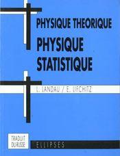 Physique Theorique Physique Statistique - Intérieur - Format classique