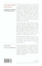 Les relations durables ; amoureuses, amicales et professionnelles - 4ème de couverture - Format classique
