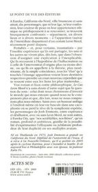 Le Cas Leon Meed - 4ème de couverture - Format classique