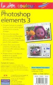 Photoshop elements 3 et album - 4ème de couverture - Format classique