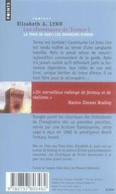Les chroniques de Tornor t.1 ; la tour de guet, les danseurs d'Arun - 4ème de couverture - Format classique