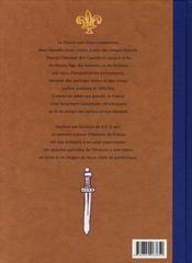 Histoire de France t.1 ; des gaulois à la fin du Moyen-Age - 4ème de couverture - Format classique