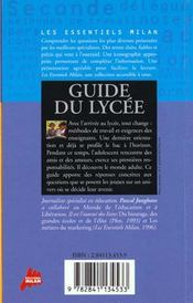 Guide du lycee - 4ème de couverture - Format classique