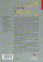 Memento Droit Des Societes Et Des Autres Groupements, 4eme Edition - 4ème de couverture - Format classique