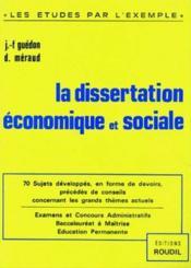 Dissertation Economique Et Sociale - Couverture - Format classique