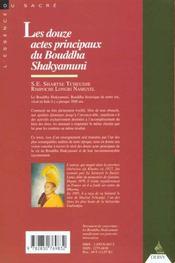 Douze Actes Principaux Du Bouddha Shakyamuni (Les) - 4ème de couverture - Format classique