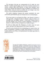 Sur les traces des saints pères ; la règle de saint Benoît et la perfection de la vie monastique - 4ème de couverture - Format classique
