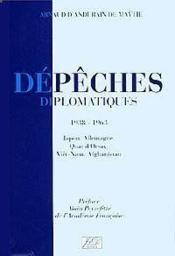 Depeches diplomatiques - Couverture - Format classique