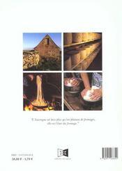 Les fromages d'auvergne - 4ème de couverture - Format classique