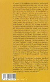 Plaidoyer Pour Une Agriculture Paysanne - 4ème de couverture - Format classique