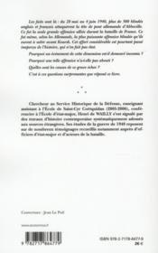 L'offensive blindee alliee d'abbeville - 4ème de couverture - Format classique