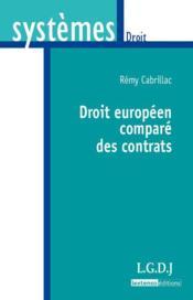 Droit européen comparé des contrats - Couverture - Format classique