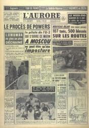 Aurore (L') N°4959 du 17/08/1960 - Couverture - Format classique