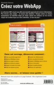 Créez votre WebApp - 4ème de couverture - Format classique