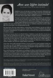 Madeleine Malraux ; avec une légère intimité - 4ème de couverture - Format classique
