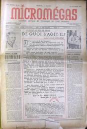 Micromegas N°13 du 10/10/1937 - Couverture - Format classique
