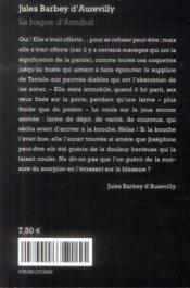 La bague d'Annibal - 4ème de couverture - Format classique