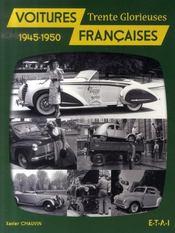 Voitures françaises, 1945-1950 ; trente glorieuses - Intérieur - Format classique