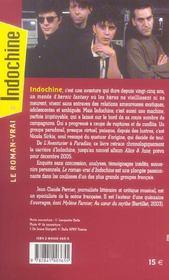 Le roman-vrai d'indochine - 4ème de couverture - Format classique