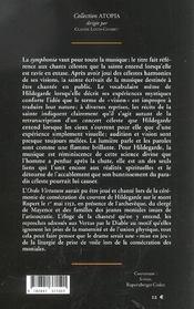 La Symphonie Des Harmonies Celestes - 4ème de couverture - Format classique