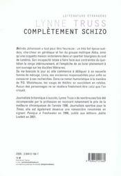 Completement schizo - 4ème de couverture - Format classique