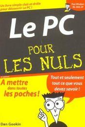 Le Pc Pour Les Nuls - Intérieur - Format classique
