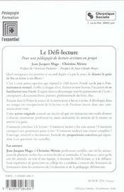 Defi Lecture 6e Ed - 4ème de couverture - Format classique