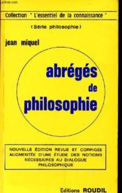 Abrege De Philosophie - Couverture - Format classique