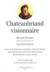 Chateaubriand visionnaire - Intérieur - Format classique