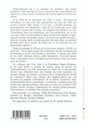 Chateaubriand visionnaire - 4ème de couverture - Format classique