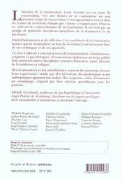 Vers Une Histoire De La Reanimation - 4ème de couverture - Format classique