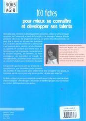 100 Fiches Pour Mieux Se Connaitre Et Developper Ses Talents - 4ème de couverture - Format classique