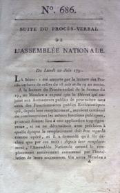 Assemblee Nationale N°686 du 20/06/1791 - Couverture - Format classique