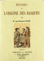 Études sur l'origine des basques - Couverture - Format classique