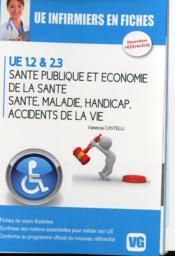 Ue Infirmiers En Fiches Sante Publique Et Economie De La Sante - Couverture - Format classique