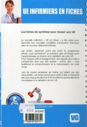 Ue Infirmiers En Fiches Sante Publique Et Economie De La Sante - 4ème de couverture - Format classique