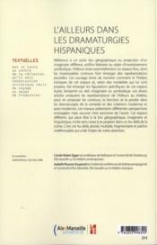 Ailleurs Dans Les Dramaturgies Hispaniques - 4ème de couverture - Format classique