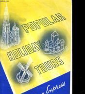 Popular Holiday Tours 1939 - Couverture - Format classique