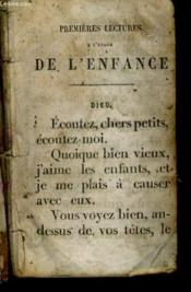 Premieres Lectures A L'Usage De L'Enfance - Couverture - Format classique