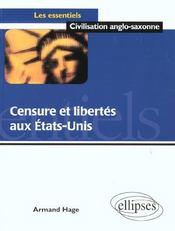 Censure Et Liberte Aux Etats-Unis - Intérieur - Format classique
