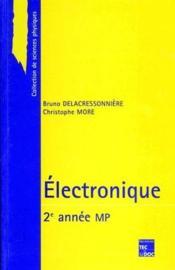 Électronique ; 2ème année ; MP - Couverture - Format classique