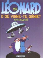 Léonard t.25 ; d'où viens-tu, génie? - Intérieur - Format classique