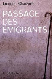 Passage des emigrants - Couverture - Format classique